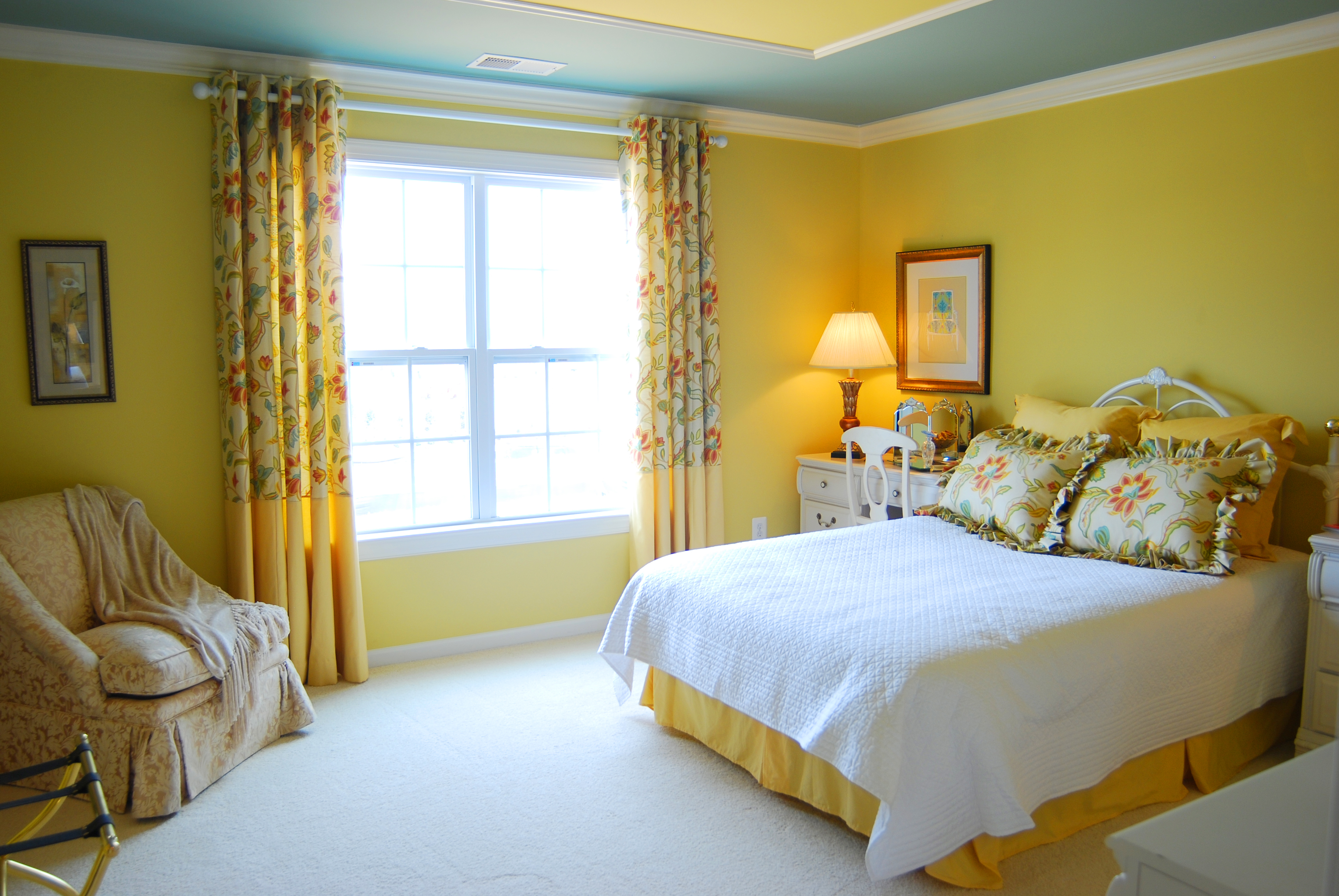 Yellow Wall Bedroom Decor Mark Cooper Research – Yellow Walls in Bedroom